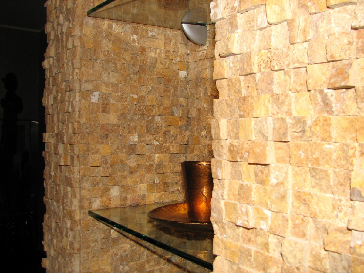 Natural Cubic   Yellow Travertine